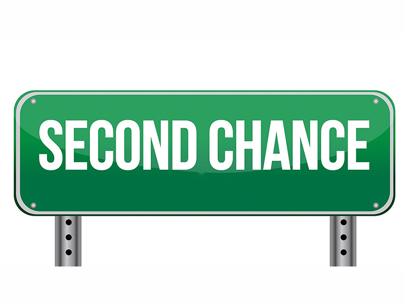"Road sign that says ""Second Chance"""