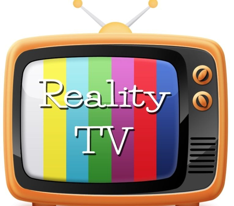 """Illustration of old fashioned tv that says """"reality TV"""""""