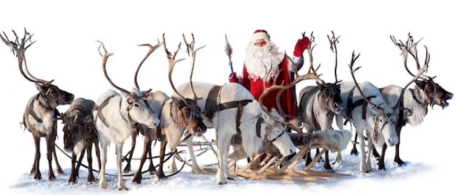 Santa clause with reindeer