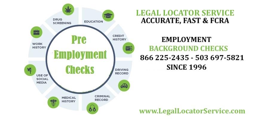 Pre employment checks info graphic