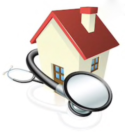 Illustration of home and stethoscope