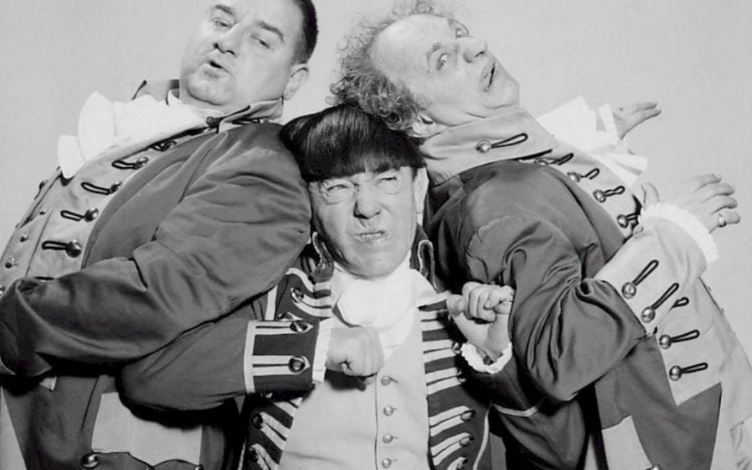 "Image of the three stooges with text that says ""we are carpenter"""