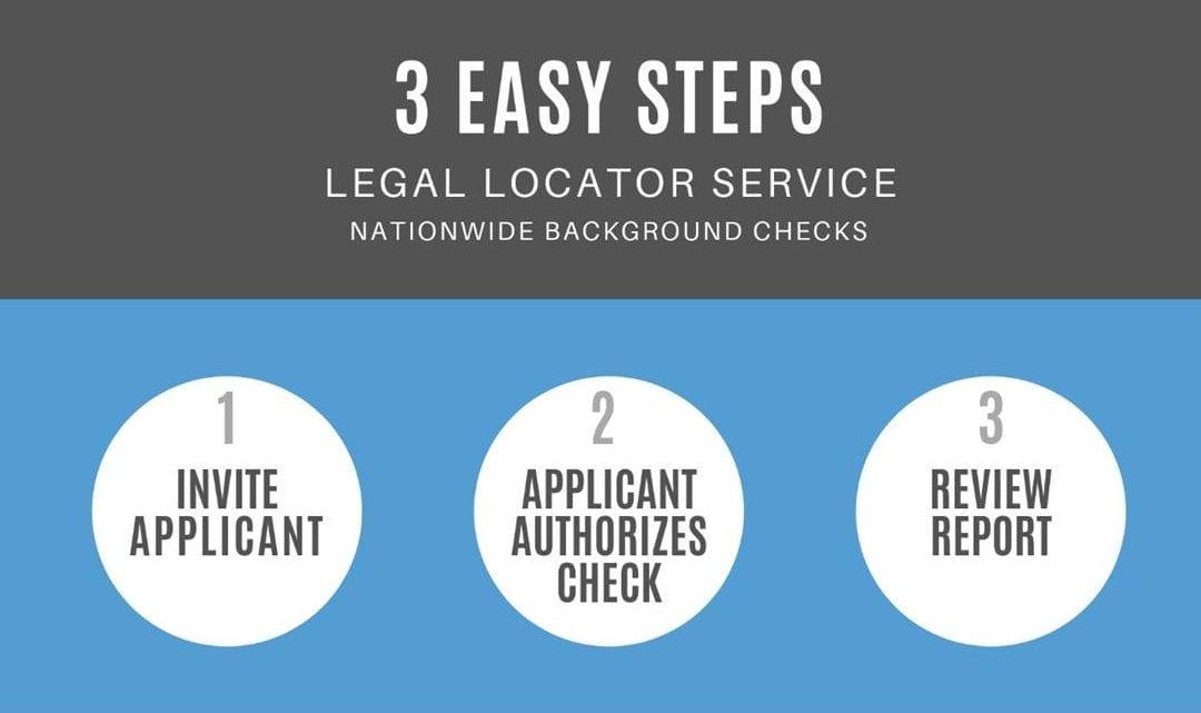 Info-graph explaining 3 easy steps of background checks